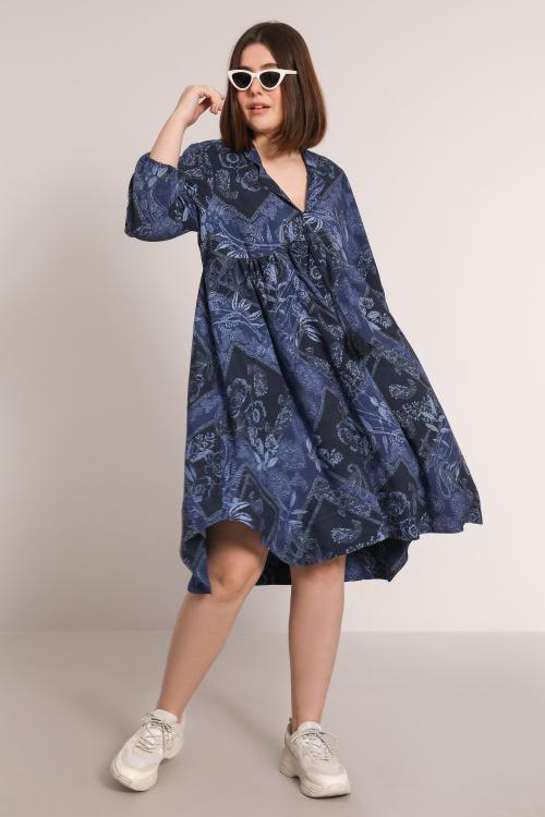 RILIA826-K0617A-VO robe-en-viscose-imprimee-avec-cordon