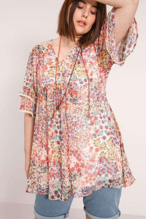 TONATO785-75831-JC483 blouse-en-voile-imprime